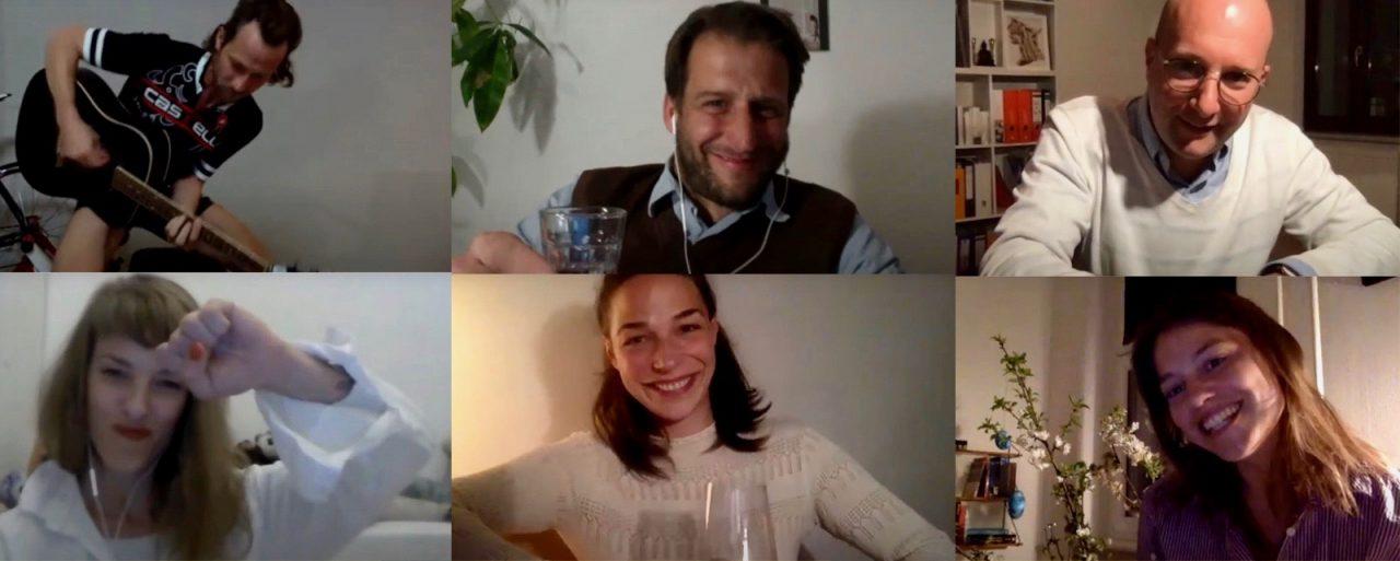 """Zeitfüeinander"" Foto:M94.5/Georgia Tsonis (v.l.n.r. David Rott, Nikola Lenk, Philippe Goos, Judith Bohle, Tjark Bernau, Britta Hammelstein)"