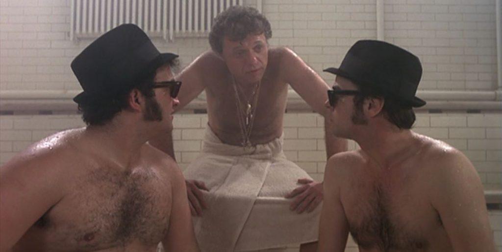 Elwood und Jake beim Geschäftstermin in der Sauna