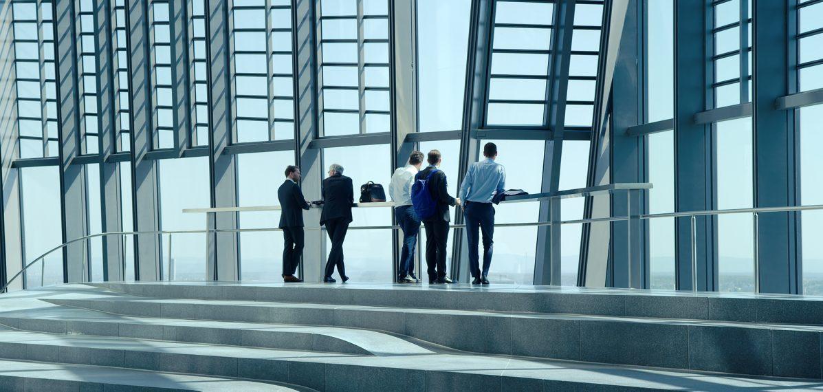 Architektur des Geldes: Ihre Transparenz steht in fundamentalem Gegensatz zur Undurchdringlichkeit des Bankenkapitalismus. © Neue Visionen Filmverleih
